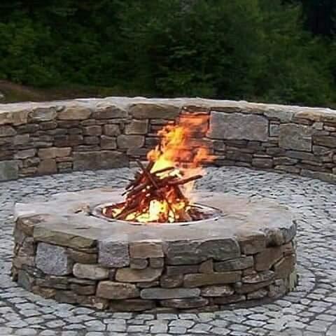 ساخت آتشدان هیزمی سنگ لاشه
